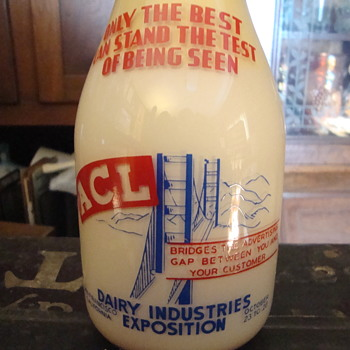 San Francisco Dairy Industries Exposition milk bottle