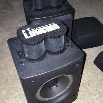 "linaeum tweeter speakers for 4 dollars at goodwill 8 ohm nominal 65w 5"" cone"