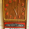 Vintage Rare Freightliner Parts Dept Sign With Clock c. 1960
