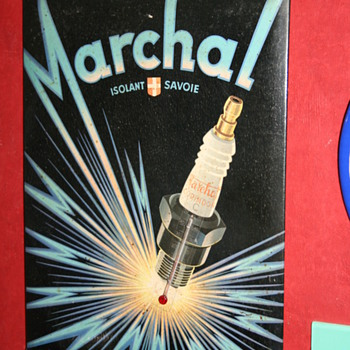 Marchal sparkplug sign - Petroliana