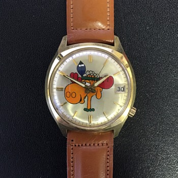 Bullwinkle 14K Gold Wrist Watch by Bulova