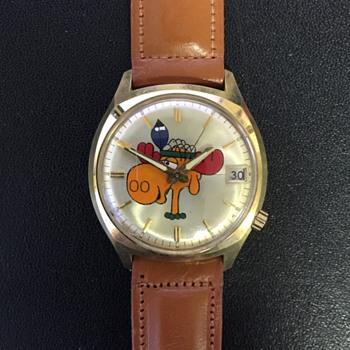 Bullwinkle 14K Gold Wrist Watch by Bulova - Wristwatches