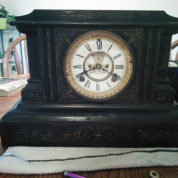 Ansonia cast iron clock - Clocks