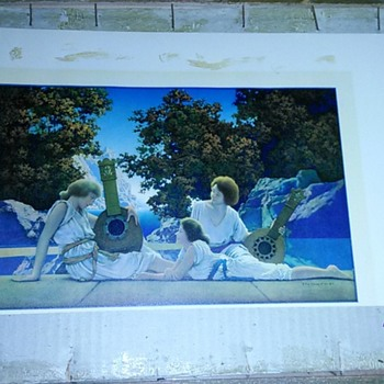 Two Maxfield Parrish prints  - Visual Art