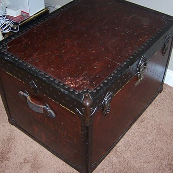 A huge specially made trunk.