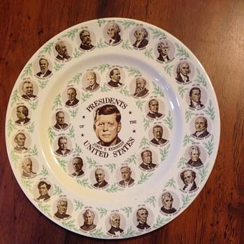 J.F.K.plate