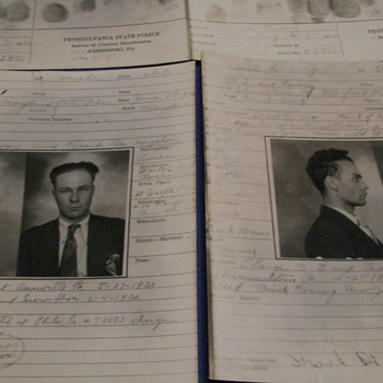 1930 Arrest Photos and Finger Prints (Pennsylvania State Police) - Photographs