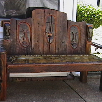 Hand Made Barnwood Sofa - Primitive - Furniture