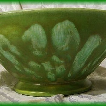 Canada -- Green Glaze Bowl Ceramic