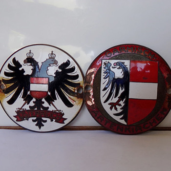 Austrian and German Enameled Car Badges? - Classic Cars