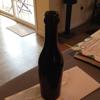 Old Really Dark/Brown/Green Soda Bottle...UPDATE.. BLACK-GLASS BEER BOTTLE - Bottles
