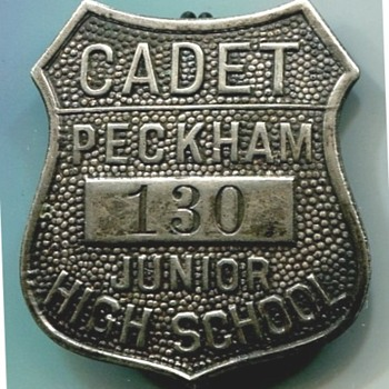 Peckham Junior High School Cadet Badge