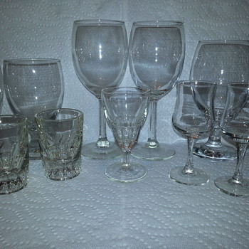 Assorted Vintage Barware Glasses - Glassware