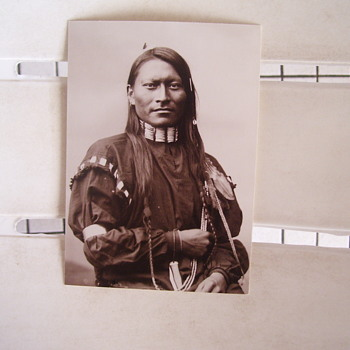 RED SLEEVE, CHEYENNE,  FORT KEOGH, MONTANA NATIVE AMERICAN, 1880, Photo by Huffman.