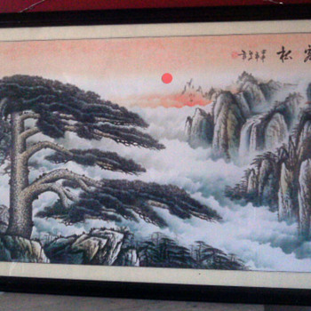 Large chinese Landscape painting - Asian