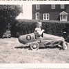 Hand-built racer from 1957 (looks like parts from a Triang racer)