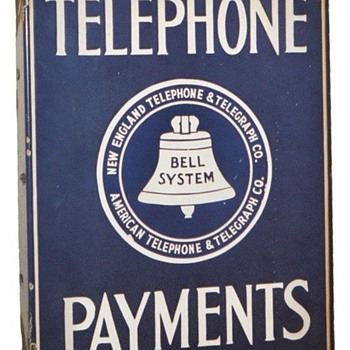 Telephone Payments Sign Blue Logo