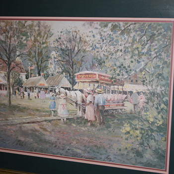 County Fair by L. Gordon Limited Ed. And Print by C. Monet Garden Terrance at the Sea side. - Posters and Prints