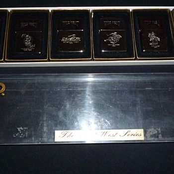 Wild West Zippo Set of Six 1990