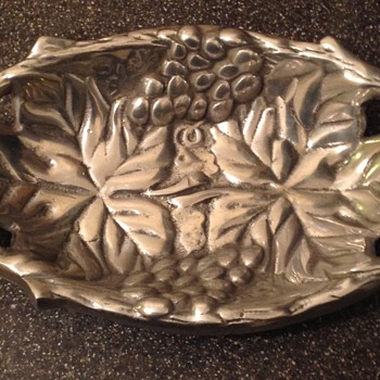 Victorian? Thick metal tray.