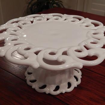 Fostoria cake plate