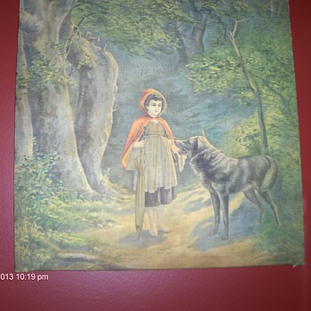 Little Red Riding Hood with Wolf - Cloth -  want some information :)