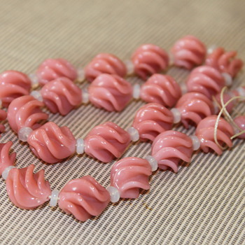 Pink Glass Beads - Costume Jewelry