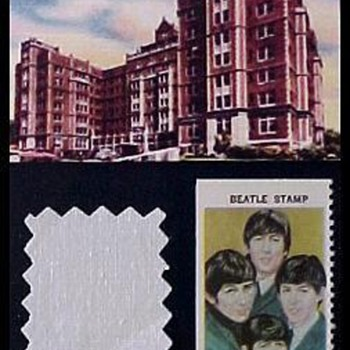 Beatles bedsheet swatch-1966 - Music