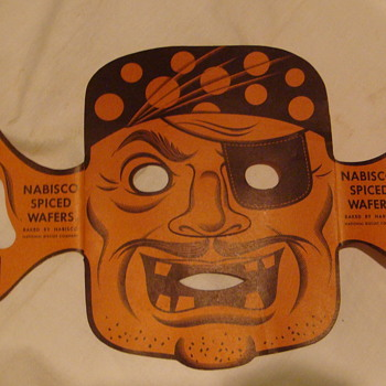 """Nabisco""  Spiced Wafer Pirate Mask - Advertising"