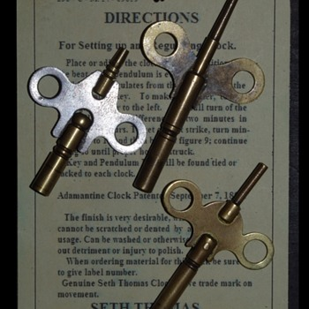 SETH THOMAS CLOCK KEYS? {Picture} - Clocks