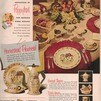 1950 Metlox Dinnerware Advertisement - Advertising