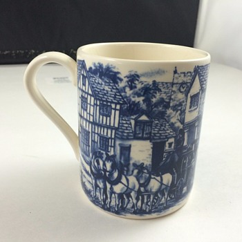 blue coffe mug from england