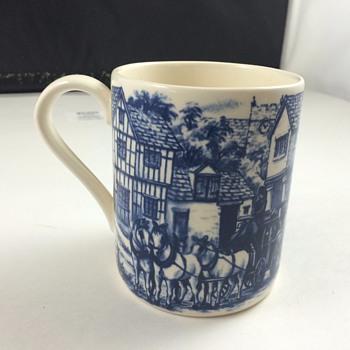 blue coffe mug from england - Kitchen