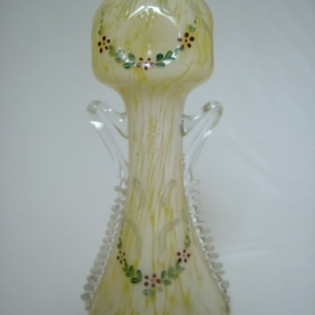 Welz Vase with Garlands, Bows, Handles and Dimples.