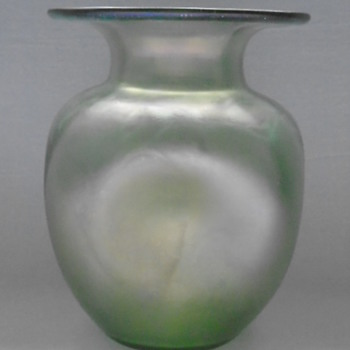 Art Nouveau Green Glass Vases......Loetz