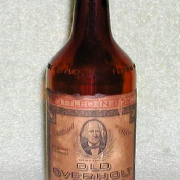 1944 - Old Overholt Whiskey Bottle - Bottles