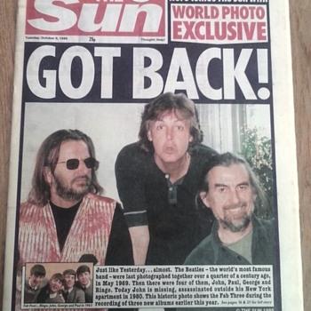 """Sun Newspaper-Oct.3,1995...""""GOT  BACK!"""""""