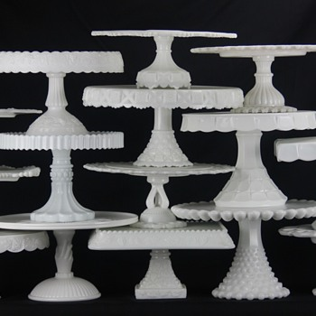 for Milk Glass lovers: my MG cake stand collection