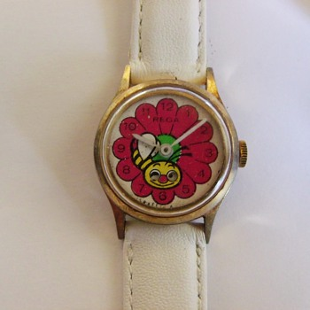 Rega Flower & Bee Animated Wristwatch