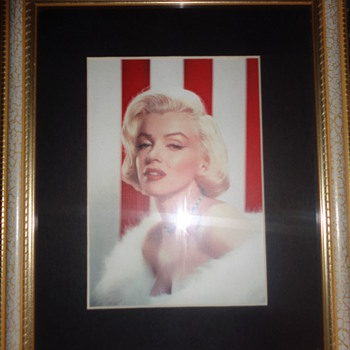 Framed Marilyn Monroe photo