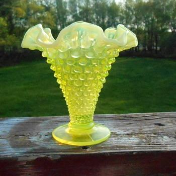 Fenton Vaseline Vase