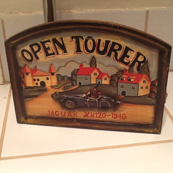 Vintage Wooden Open Tourer key holder - Classic Cars