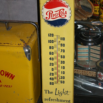 pepsi cola thermometer - Signs