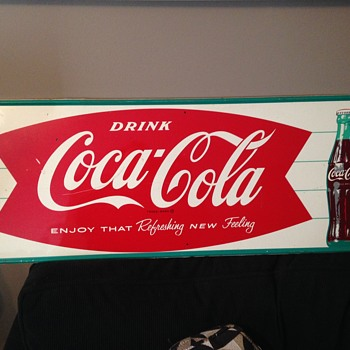 Coca-Cola Fishtail with Bottle Sign