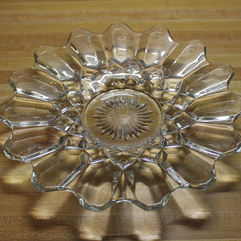 Crystal Flower Shaped Plate
