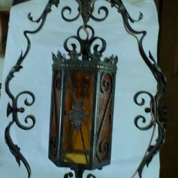 Ornate Iron Floor Lamp