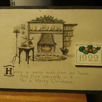 1922 Postcard Christmas Calender