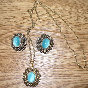 Sarah Coventry Necklace and Clipons - Costume Jewelry