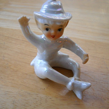 Porcelain Pixie Figurine - Art Pottery