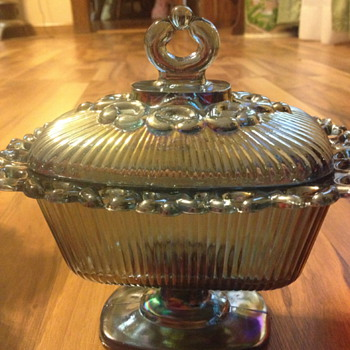 Carnival Glass Candy Dish  - Glassware